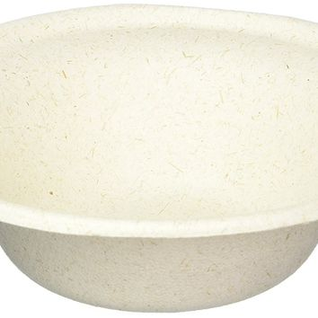 100% compostable and biodegradable DISPOSABLE 12oz BOWLS - (125 COUNT), made from bamboo & sugar cane , excellent strength