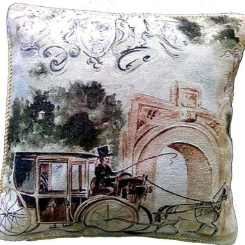 Tache Afternoon Stroll 18 x 18 Inch Throw Pillow Cushion Cover (16380)