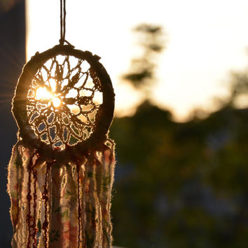 Small Dream Catcher Wall Hanging, Dream Catcher Mobile, Dream Catcher Baby Mobile, Boho Dreamcatcher, Native American Dreamcatcher, Gypsy