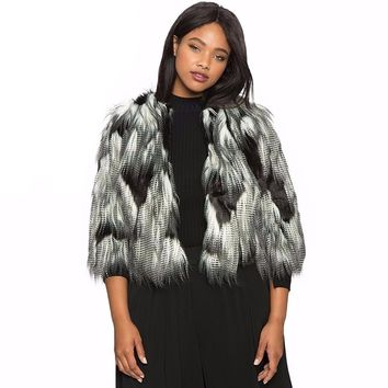 Faux Fur Big Size Coat