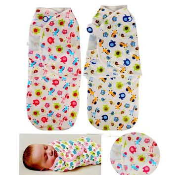 Spring Summer Style 100% Cotton Baby Sleeping Bag Animal Printed Baby Sleep Sack baby stroller sleeping bag baby swaddle blanket