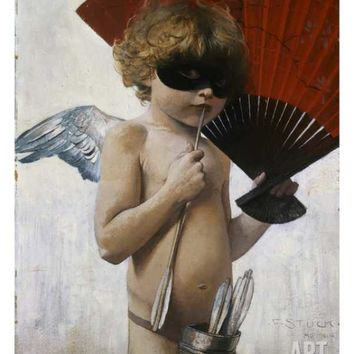 Cupid at the Masquerade Ball Giclee Print by Franz von Stuck at Art.com