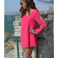 Anaheim Fuchsia T Strap Back Dress