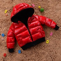 Fashion 2017 Children jacket Cotton Boys Warm Solid Coats Baby Winter Thicken Cotton-padded Jackets Girls snowsuit Kids parka