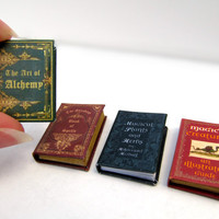 "Miniature Book ""The Art of Alchemy"" in 1/12 inch dollhouse miniature scale"