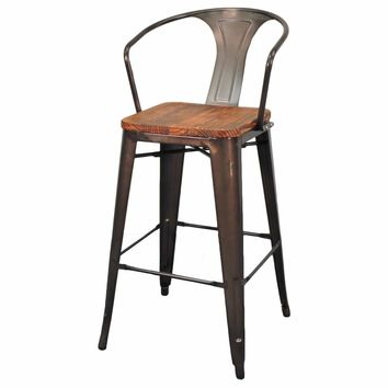 Grand Metal Bar Chair- Set of 4 GUNMETAL