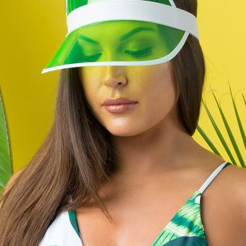 COME THROUGH SUMMER VISOR  - Clear Green