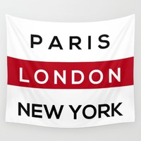 London Red Wall Tapestry by Whimsy Quote