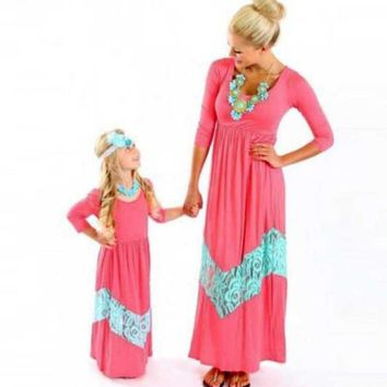 Mother Daughter Long Sleeve Matching Dresses