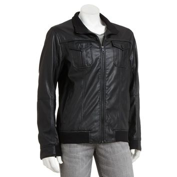 Marc Anthony Slim-Fit Faux-Leather Moto Jacket