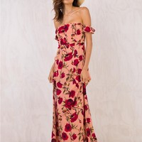 Royal Rose Maxi Dress