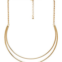 FOREVER 21 Statement Crescent Bib Necklace