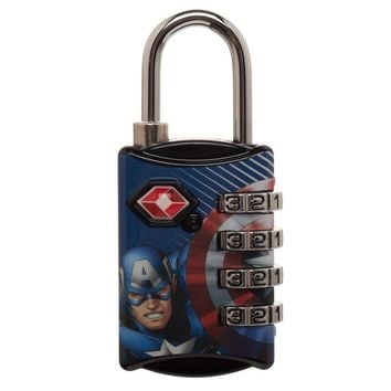 Marvel Comics Captain America Graphic Design TSA Approved  Combination Lock
