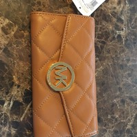 NWT Michael Kors Brown Leather Wallet