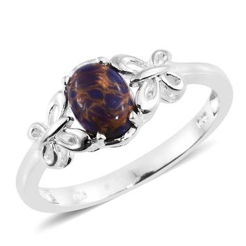 Mojave Purple Turquoise Sterling Silver Butterfly Shank Ring
