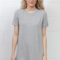 Soft + Basic Short Sleeve Tee {Heather Grey}