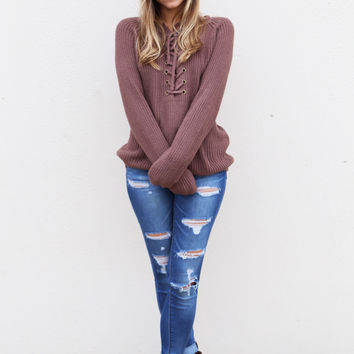 Better Together Sweater {Mocha}