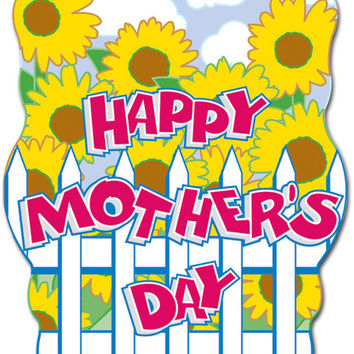 "happy mother's day sign 2 sides printed 12"" x 17"" Case of 24"