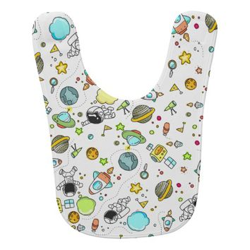 Space Pattern Baby Bib
