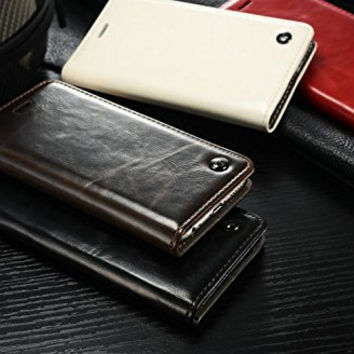 Luxury Leather Magnet wallet Case For iPhone 6 unique Magnet Design case For iPhone6 mobile phone leaher case