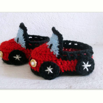 Baby Booties CROCHET PATTERN, Car Booties, Hello Kitty Booties, Tennis Shoes, Strappy Sandals, 4 sizes Baby or Toddler Slippers