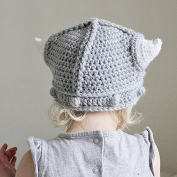 Childrens Viking Helmet with Horns Toddler Hat