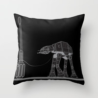 At At Walker stop Throw Pillow by Tony Vazquez