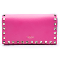Valentino Women's Hot Pink Leather Rockstud Shoulder Bag