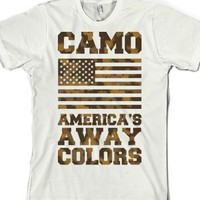 White T-Shirt | Funny Patriotic Camoflauge Shirts