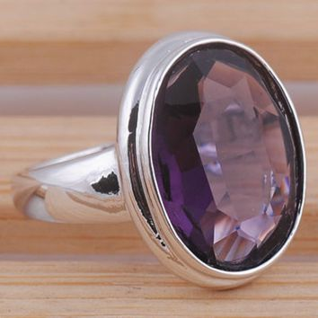 Unisex  3.6CT Oval Cut Tanzanite  .925 Sterling Silver Ring