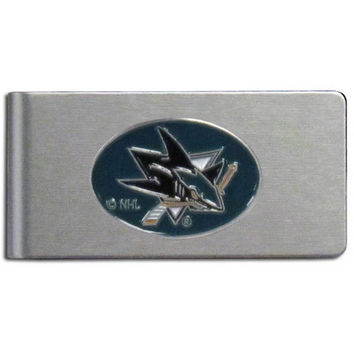 San Jose Sharks® Brushed Metal Money Clip HBMC115