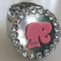 Pink Ponytail Jeweled Herb Grinder