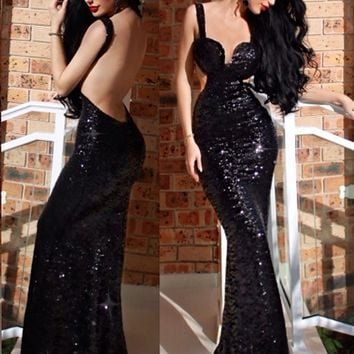 Sonia Sequined Luxe Gown