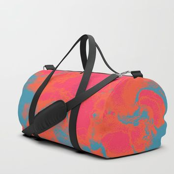 Pixelated Duffle Bag by duckyb
