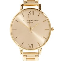 Olivia Burton Big Dial Gold Bracelet Watch - Gold