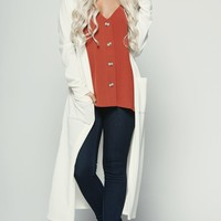 Fall For Me Ribbed Cardigan (Ivory)