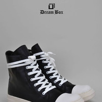 Indie Designs Classic Leather High Top Sneakers