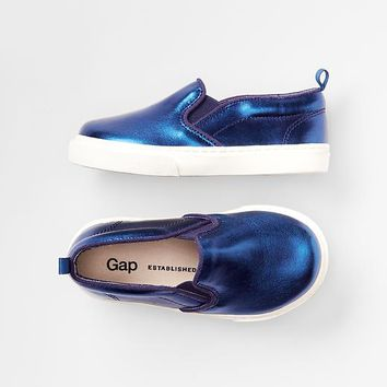 Gap Baby Metallic Slip On Sneakers