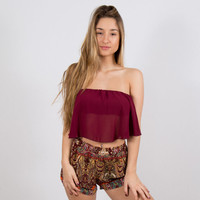 Cold Shoulder Top Maroon | Disruptive Youth