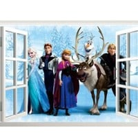 Buy Home Beautiful Elsa From Frozen Family Removable Wall Decor Elsa Decals Decorations (ZY1417)