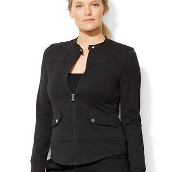 Lauren Ralph Lauren Plus Quilted Yoke Jacket