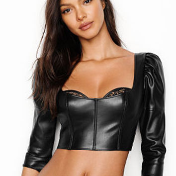 Faux-leather Bra Top - Very Sexy - Victoria's Secret