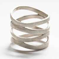 circle loop sterling silver ring by banou on Etsy