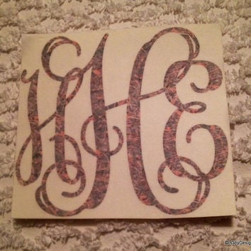 Monogrammed Camouflage Decal - LIMITED STOCK