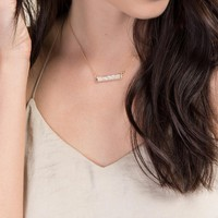 Rosaleen Druzy Bar Necklace