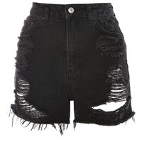 TALL Rip Longline Mom Shorts | Topshop
