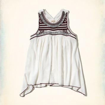 Embroidered Shine Tank