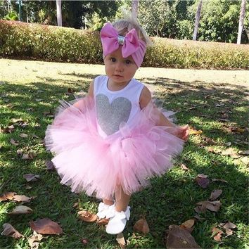 Baby Girl Princess tutu Dress 0-18M