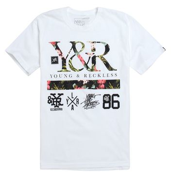Young & Reckless Floral Turf T-Shirt - Mens Tee - White