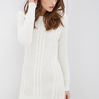 Cable Knit Sweater Dress - Dresses - 2000100641 - Forever 21 EU